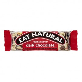 FRUIT & NUT BAR IN DARK CHOCOLATE 45G EAT NATURAL