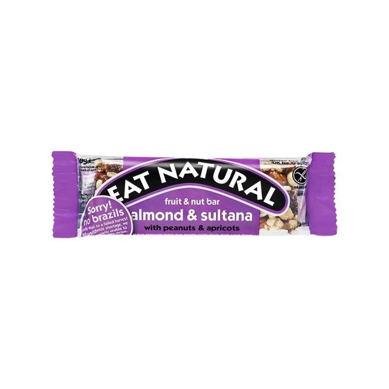 ALMOND & SULTANA BAR 50G EAT NATURAL