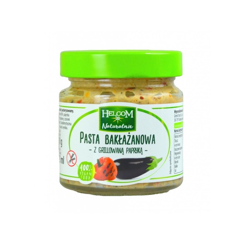 PASTE EGGPLANT WITH GRILLED PEPPER 190G HELCOM