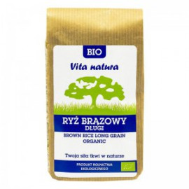 ORGANIC BROWN RICE LONG 500G   VITA NATURA
