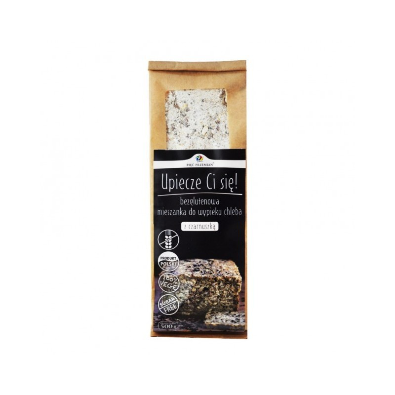GLUTEN FREE BREAD MIX WITH BLACK CUMIN 500G PIEC PRZEMIAN