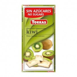 WHITE CHOCOLATE WITH KIWI TORRAS 75G
