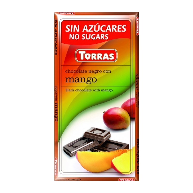 DARK CHOCOLATE WITH MANGO TORRAS 75G