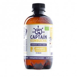 CAPTAIN KOMBUCHA PINEAPPLE/PEACH BIO 400ML