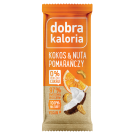 COCONUT BAR & HINT OF ORANGE FRUIT 35G DOBRA KALORIA