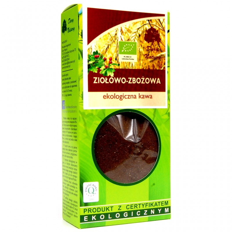 HERBAL AND ROASTED GRAIN ORGANIC COFFEE 100G DARY NATURY