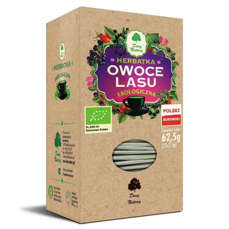 FOREST FRUITS ORGANIC TEA 25 x 2,5G DARY NATURY