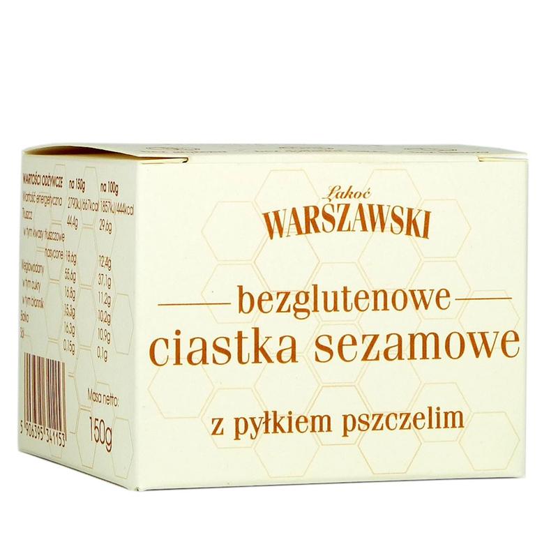 GLUTEN-FREE SESAME COOKIES WITH BEE POLLEN 150G ŁAKOĆ WARSZAWSKI