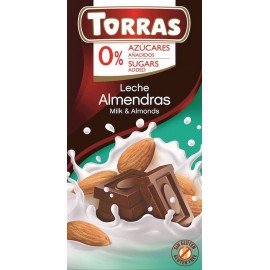 MILK CHOCOLATE WITH ALMONDS 75G TORRAS