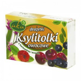 XYLITOL FRUIT DRAGEES 40G
