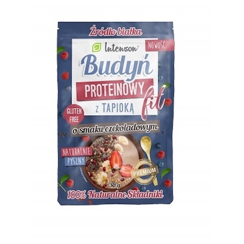 GLUTEN FREE PROTEIN PUDDING WITH CHOCOLATE FLAVOUR 30G INTENSON