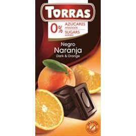 SUGAR FREE DARK CHOCOLATE 75G TORRAS