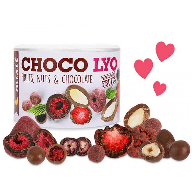 CHOCO LYO- CRUNCHY FRUITS & NUTS IN CHOCOLATE 180G MIXIT