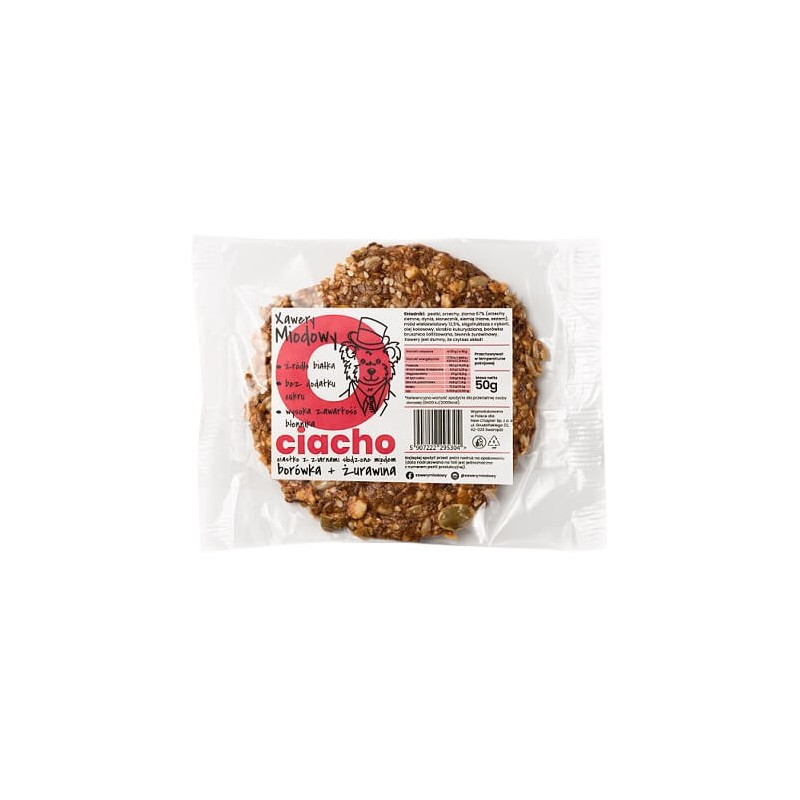 HONEY-SWEETENED GRAIN COOKIE WITH BLUEBERRY & CRANBERRY 50G XAWERY MIODOWY