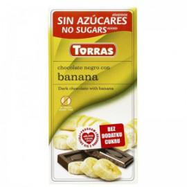 DARK CHOCOLATE WITH BANANA SUGAR FREE 75G TORRAS