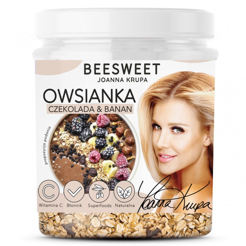 BEESWEET JOANNA KRUPA OWSIANKA CHOCOLATE & BANANA 60G