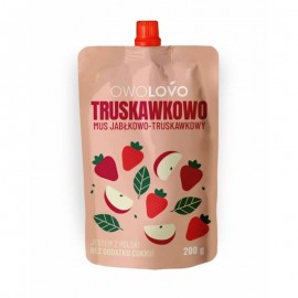 Apple & Strawberry Mousse 200g Owolovo