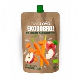 Apple & Carrot Bio Mousse 200g Owolovo