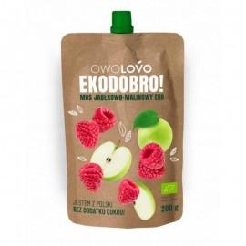 Apple & Raspberry Bio Mousse 200g Owolovo
