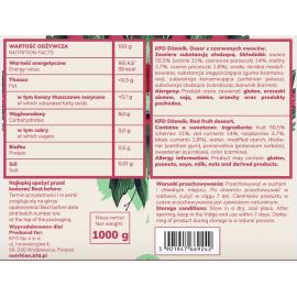 Red Fruits Jam1kg KFD - ingredients label