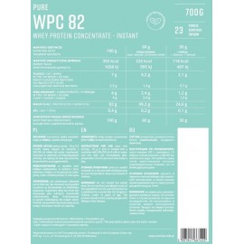 Pure WPC 82 Instant Whey Protein Concentrate 700g KFD