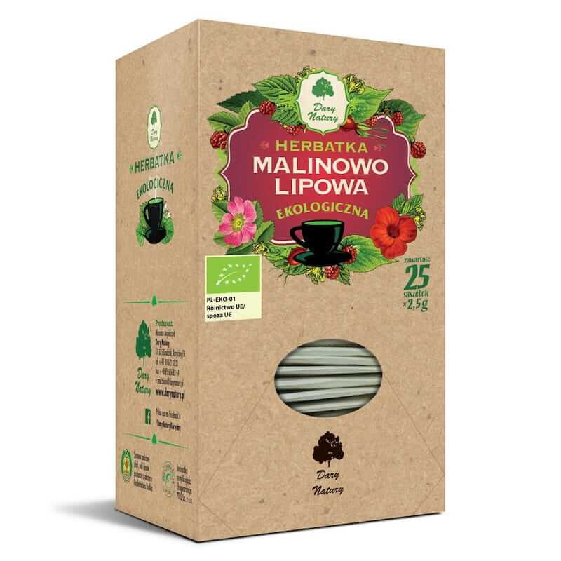 Organic Raspberry-Linden Tea 62,5g Dary Natury