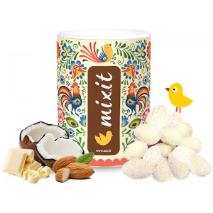 Mixit Eggs - Roasted Almonds In White Chocolate And Coconut Shreds 540g Mixit