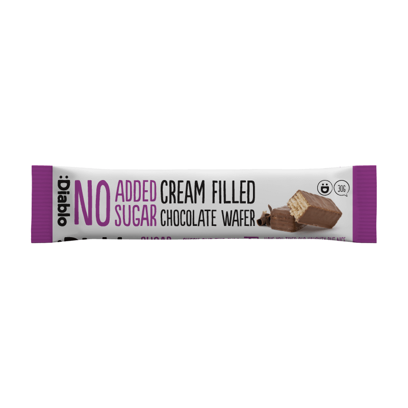 Sugar Free Cream Filled Chocolate Wafer 30g Diablo