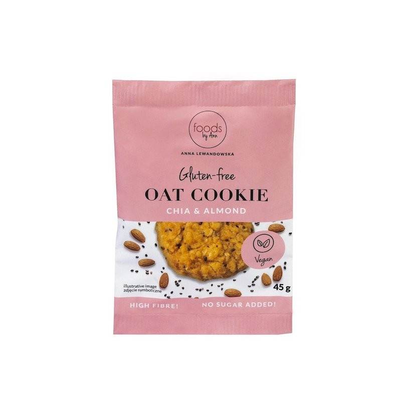 Oat Cookie Chia & Almond 45g Foods By Ann
