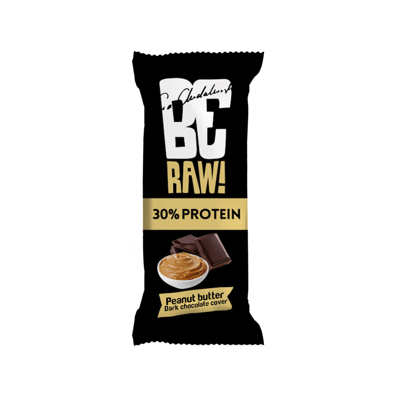 protein bar be raw 30% peanut butter 40g