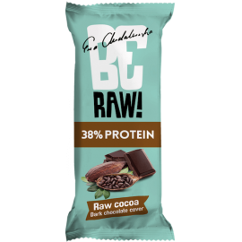 protein 38% raw cocoa  be raw 40g