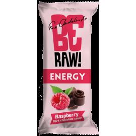 be raw bar raspberry & choco power 40g