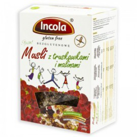 GLUTEN FREE  MUESLI WITH STRAWBERRY AND RASPBERRIES 280G INCOLA