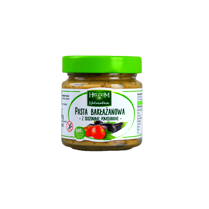 AUBERGINE PASTE WITH DRIED TOMATOES 190G HELCOM