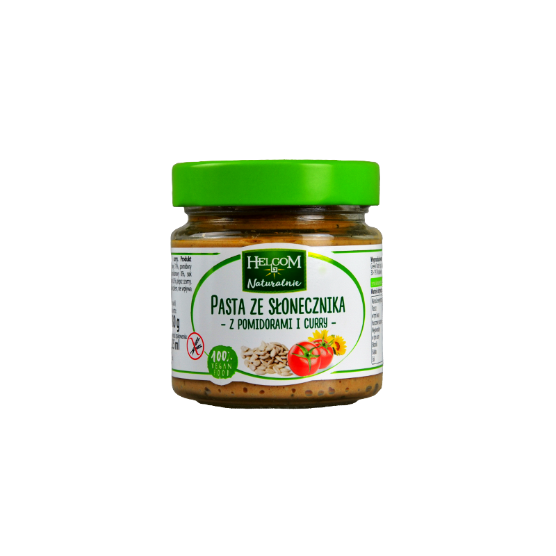 PATE SUNFLOWER WITH TOMATOES & CURRY 225ML HELCOM